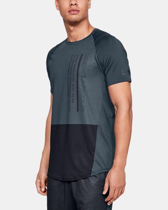 Men's UA MK-1 Colorblock Short Sleeve, Gray, pdpMainDesktop image number 0