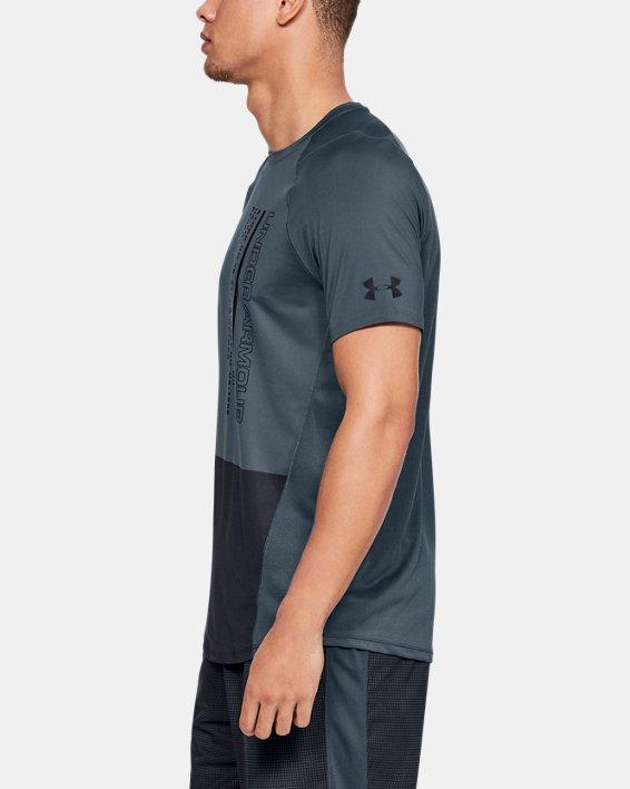 Haut à manches courtes color block UA MK-1 pour homme, Gray, pdpMainDesktop image number 3