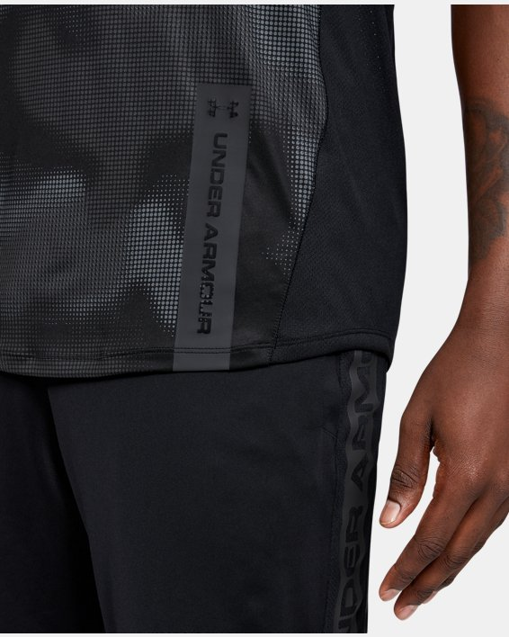 Men's UA MK-1 Printed Short Sleeve, Black, pdpMainDesktop image number 5