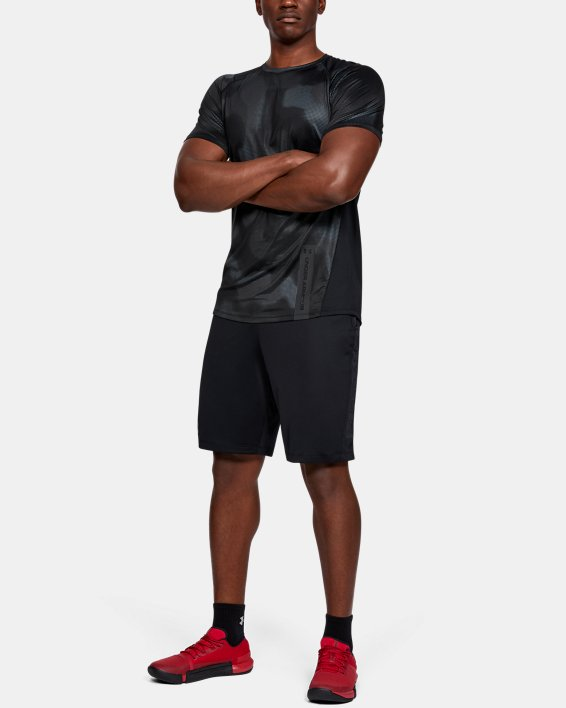 Men's UA MK-1 Printed Short Sleeve, Black, pdpMainDesktop image number 1