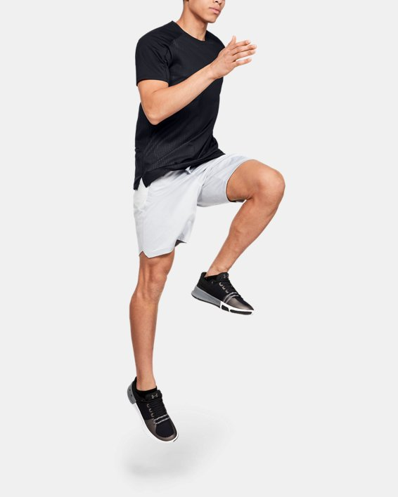 Men's UA MK-1 Emboss Short Sleeve, Black, pdpMainDesktop image number 1