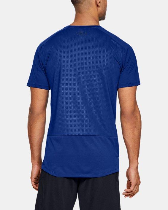 Haut à manches courtes UA MK-1 Emboss pour homme, Blue, pdpMainDesktop image number 2