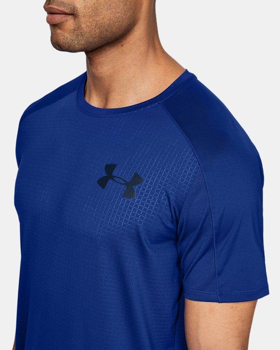 Haut à manches courtes UA MK-1 Emboss pour homme, Blue, pdpMainDesktop image number 5