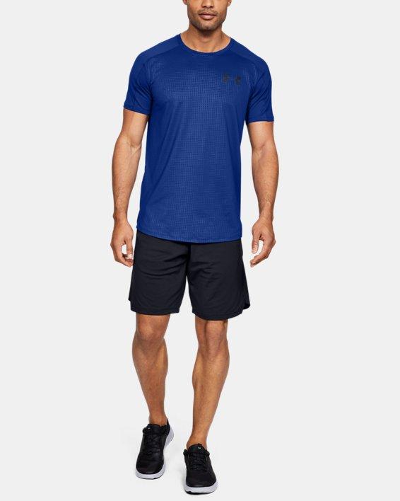 Haut à manches courtes UA MK-1 Emboss pour homme, Blue, pdpMainDesktop image number 1
