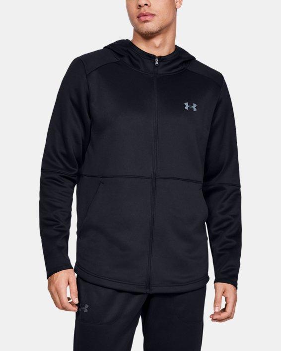 Men's UA MK-1 Warm-Up Full Zip Hoodie, Black, pdpMainDesktop image number 0