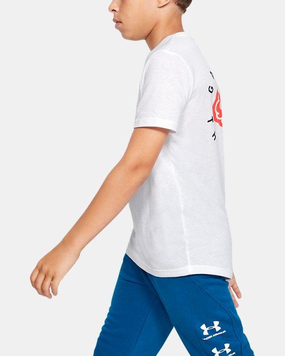 Boys' UA Game on the Brain Short Sleeve, White, pdpMainDesktop image number 3