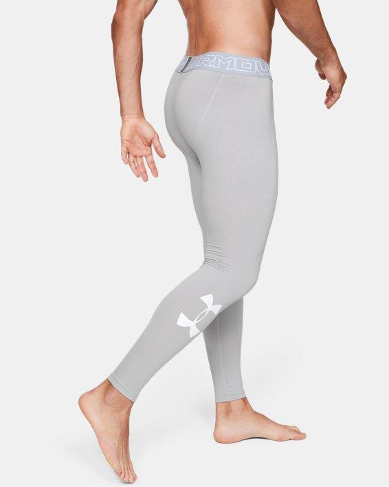 Men's ColdGear® Armour Leggings, Gray, pdpMainDesktop image number 3
