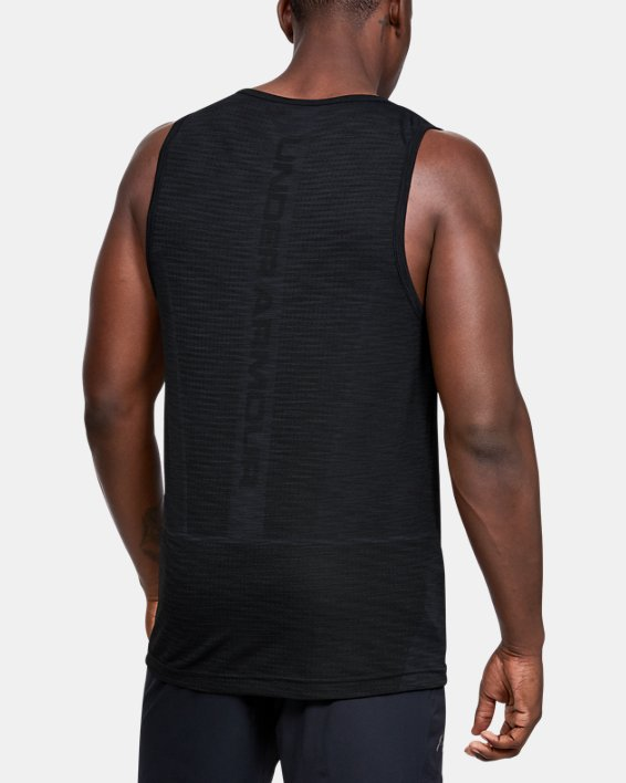Men's UA Vanish Seamless Tank, Black, pdpMainDesktop image number 2