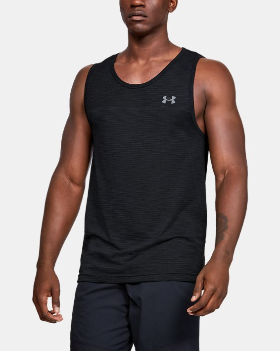 Men's UA Vanish Seamless Tank, Black, pdpMainDesktop image number 0