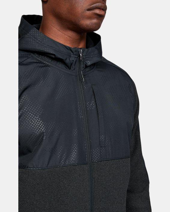 Men's ColdGear® Infrared Full Zip Hoodie, Black, pdpMainDesktop image number 5