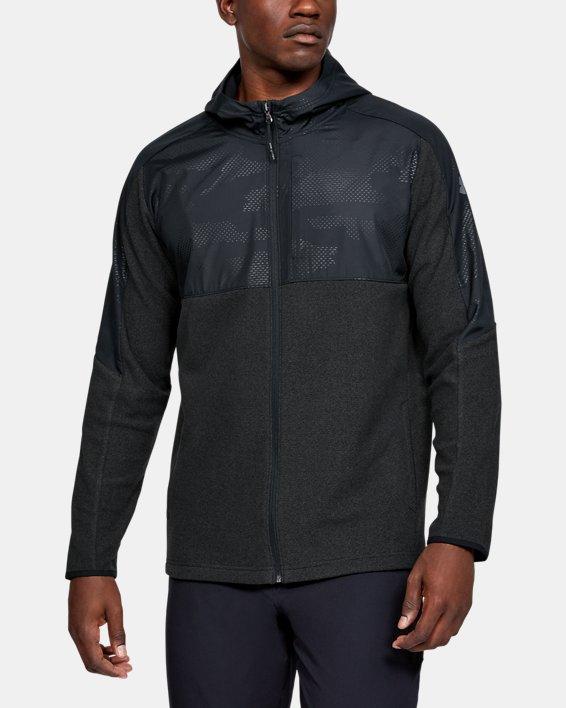 Men's ColdGear® Infrared Full Zip Hoodie, Black, pdpMainDesktop image number 2