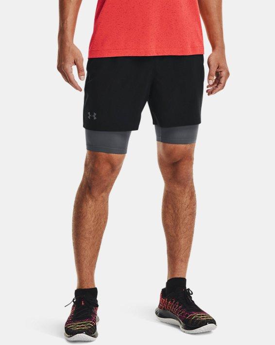 Men's UA Qualifier 2-in-1 Shorts, Black, pdpMainDesktop image number 2