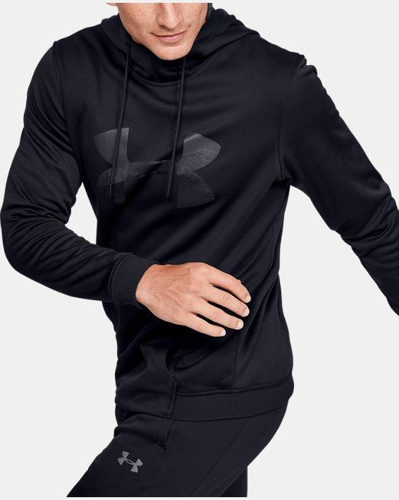 Men's Armour Fleece® Big Logo Graphic Hoodie, Black, pdpMainDesktop image number 3