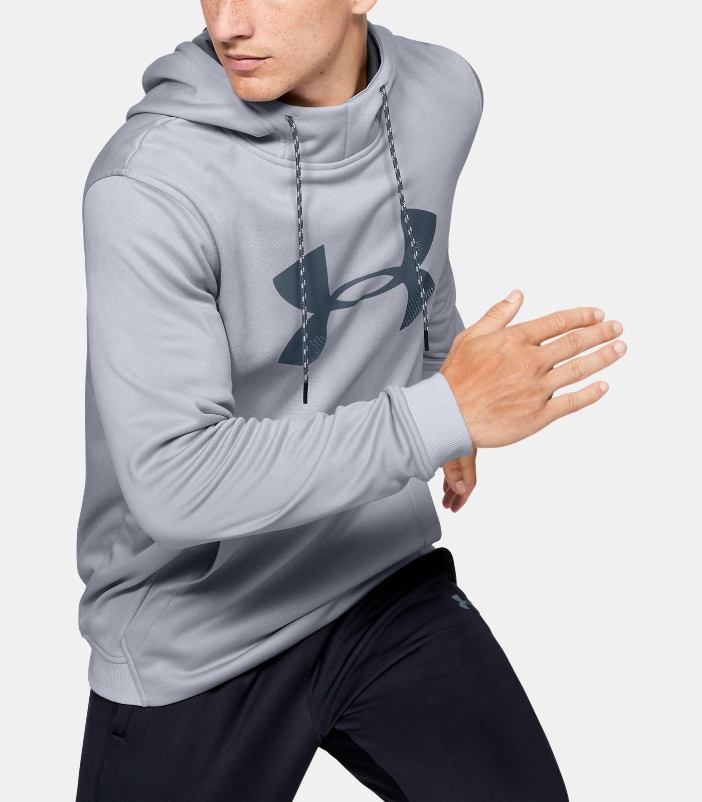 Under Armour Men's Fleece Pullover Hoodie Big Logo Graphic
