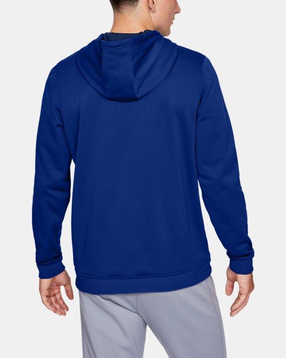 Men's Armour Fleece® Bar Logo Graphic Hoodie, Blue, pdpMainDesktop image number 2
