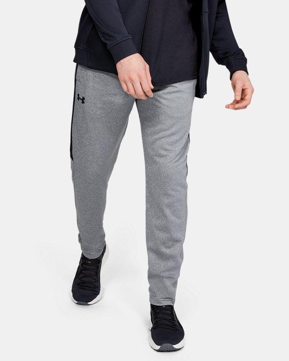Men's Armour Fleece® Graphic Pants, Gray, pdpMainDesktop image number 0