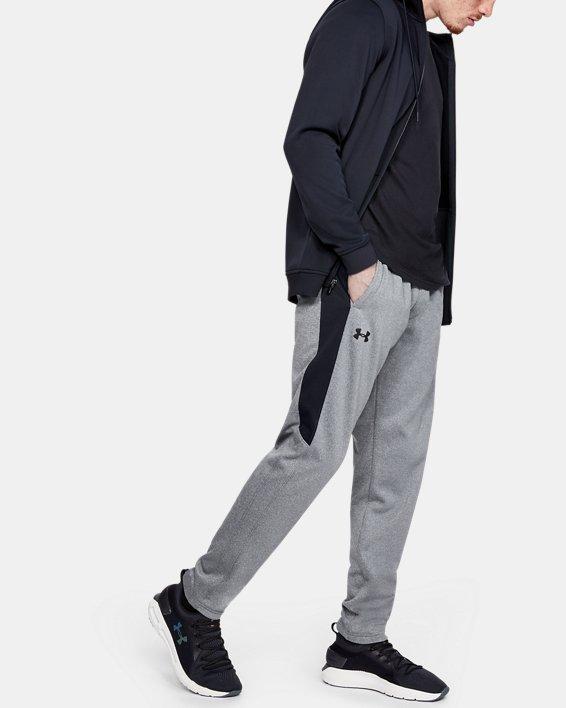 Men's Armour Fleece® Graphic Pants, Gray, pdpMainDesktop image number 1