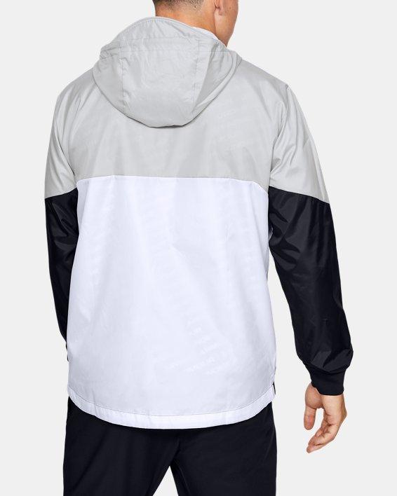 Men's UA Legacy Windbreaker Jacket, White, pdpMainDesktop image number 2