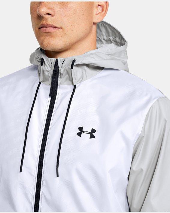 Men's UA Legacy Windbreaker Jacket, White, pdpMainDesktop image number 5