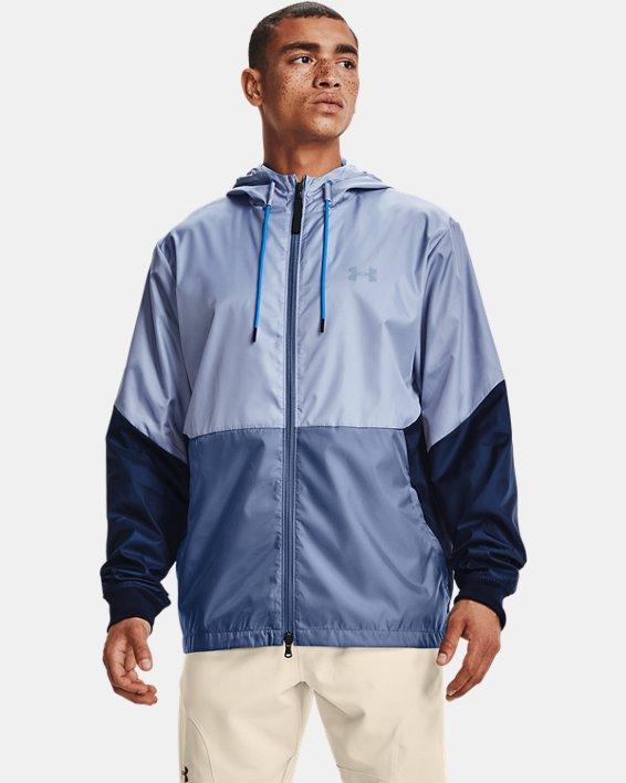 Men's UA Legacy Windbreaker Jacket, Blue, pdpMainDesktop image number 0
