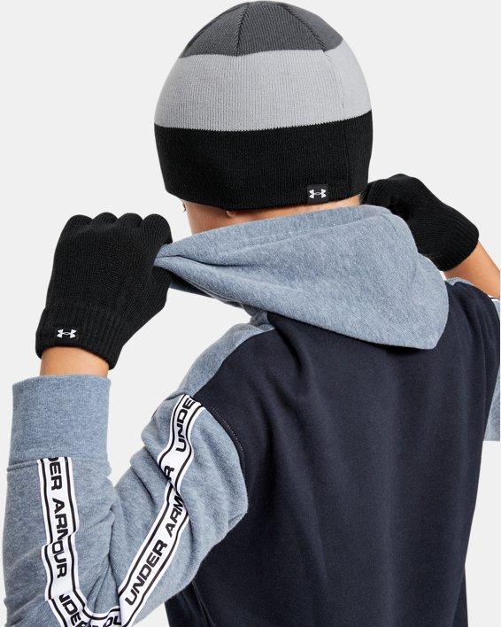 Boys' UA Beanie Glove Combo, Black, pdpMainDesktop image number 0