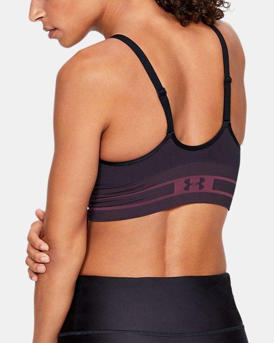 Women's UA Seamless Low Novelty Sports Bra, Black, pdpMainDesktop image number 1