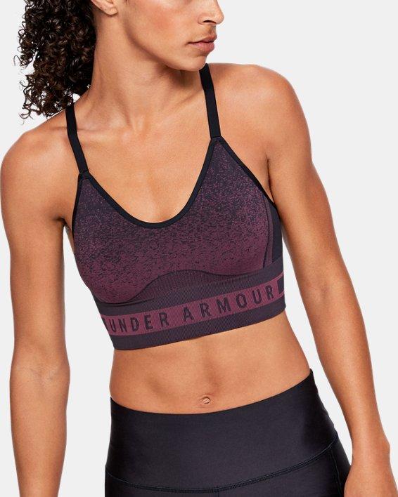 Women's UA Seamless Low Novelty Sports Bra, Black, pdpMainDesktop image number 0