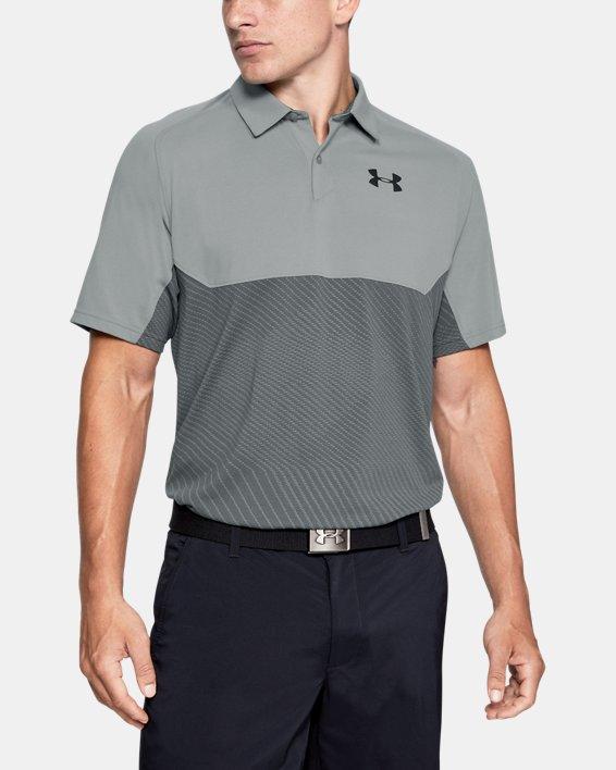 Men's UA Vanish Blocked Polo, Gray, pdpMainDesktop image number 0