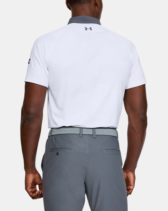 Men's UA Iso-Chill Polo, White, pdpMainDesktop image number 2