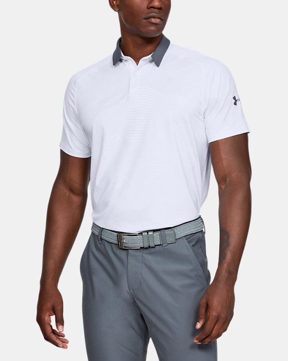 Men's UA Iso-Chill Polo, White, pdpMainDesktop image number 1