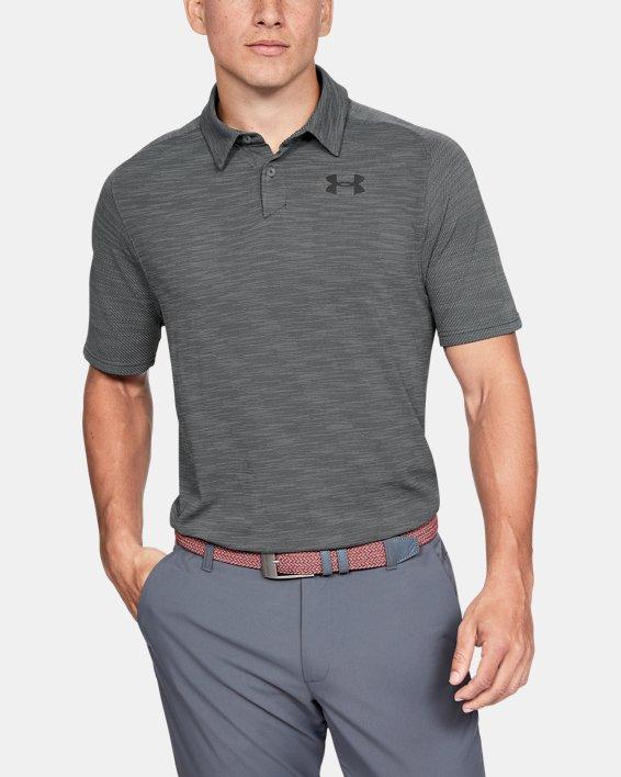 Men's UA Vanish Seamless Polo, Gray, pdpMainDesktop image number 0