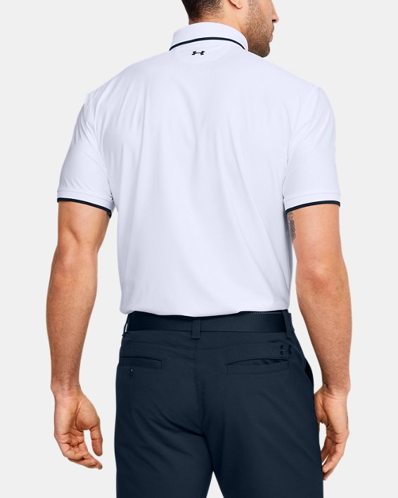Men's UA Playoff Pique Polo, White, pdpMainDesktop image number 2