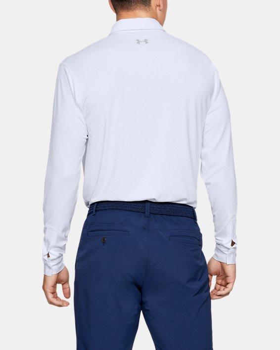 Men's UA Playoff 2.0 Long Sleeve Polo, White, pdpMainDesktop image number 2