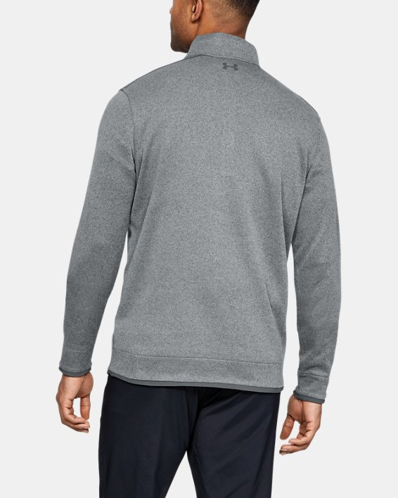 Men's UA SweaterFleece ½ Zip, Gray, pdpMainDesktop image number 2