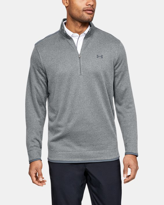 Men's UA SweaterFleece ½ Zip, Gray, pdpMainDesktop image number 0
