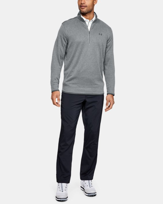 Men's UA SweaterFleece ½ Zip, Gray, pdpMainDesktop image number 1