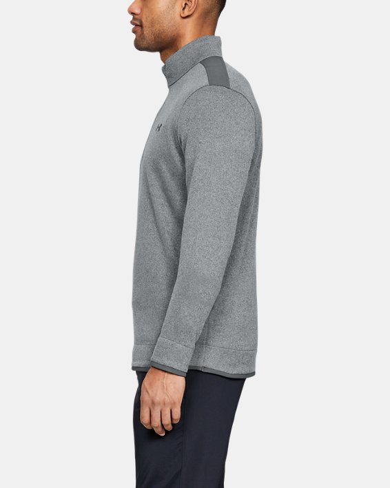 Men's UA SweaterFleece ½ Zip, Gray, pdpMainDesktop image number 3