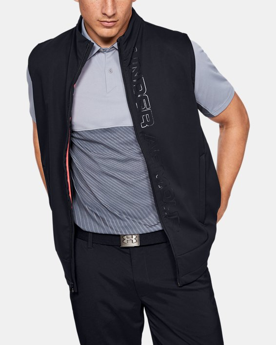 Men's UA Storm Vest, Black, pdpMainDesktop image number 0