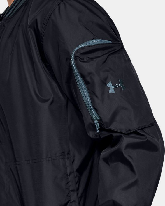 Men's UA Unstoppable Woven Bomber Jacket, Black, pdpMainDesktop image number 5