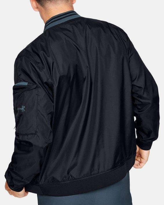 Men's UA Unstoppable Woven Bomber Jacket, Black, pdpMainDesktop image number 2