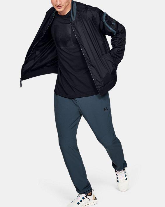 Men's UA Unstoppable Woven Bomber Jacket, Black, pdpMainDesktop image number 1