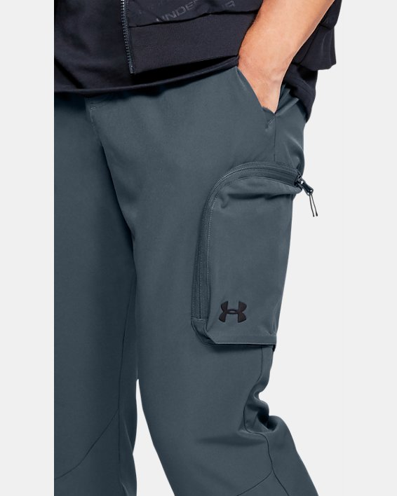 Men's UA Unstoppable Woven Cargo Pants, Gray, pdpMainDesktop image number 3