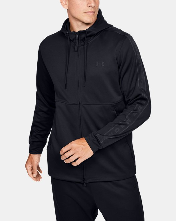 Men's UA Unstoppable Track Jacket, Black, pdpMainDesktop image number 0