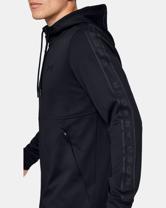 Men's UA Unstoppable Track Jacket, Black, pdpMainDesktop image number 3