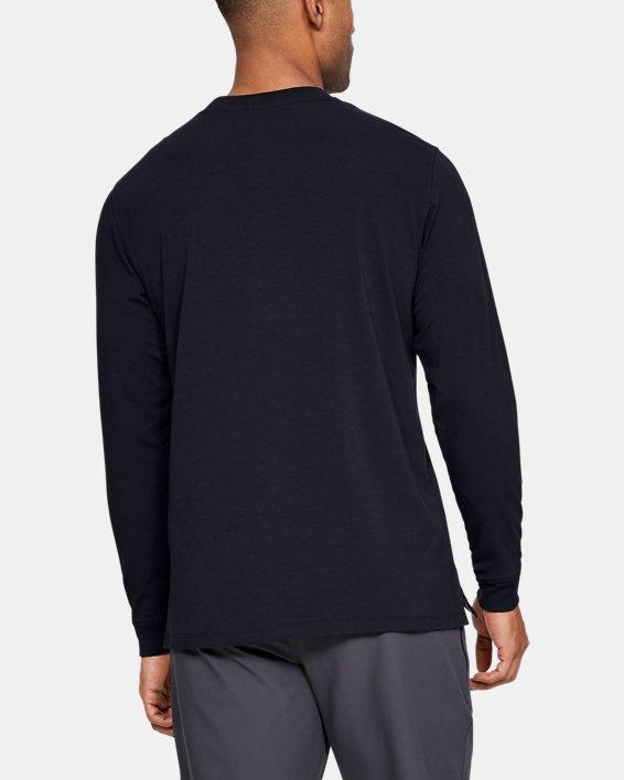 Men's UA Unstoppable Wordmark Long Sleeve, Black, pdpMainDesktop image number 2