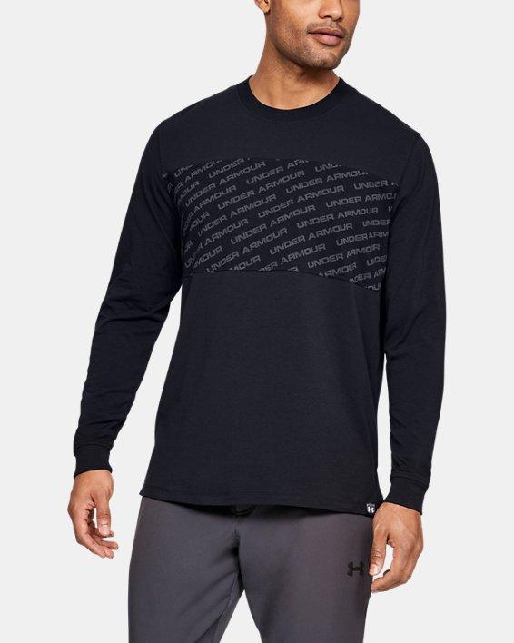 Men's UA Unstoppable Wordmark Long Sleeve, Black, pdpMainDesktop image number 0