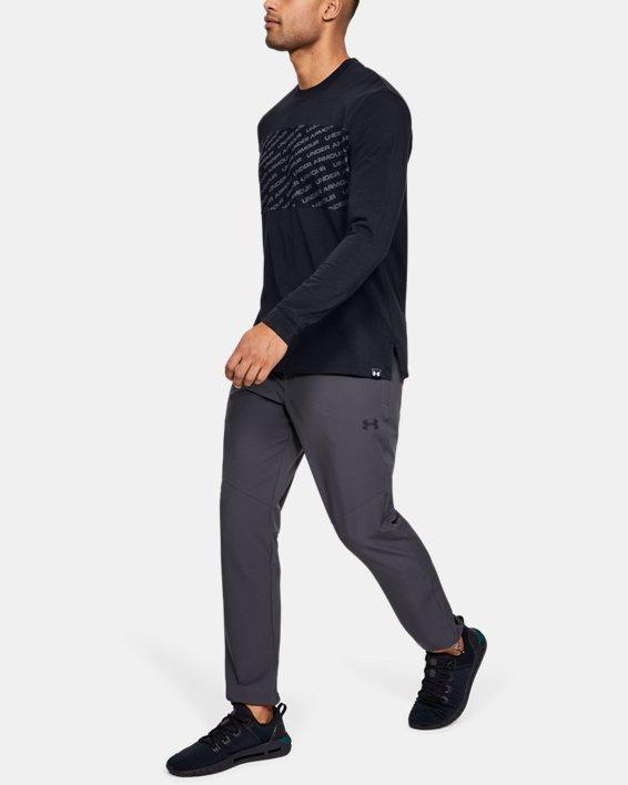 Men's UA Unstoppable Wordmark Long Sleeve, Black, pdpMainDesktop image number 1