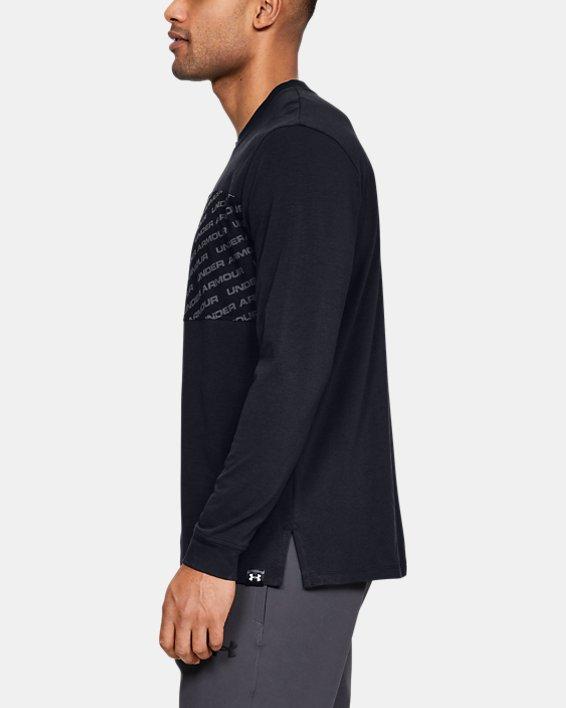 Men's UA Unstoppable Wordmark Long Sleeve, Black, pdpMainDesktop image number 3