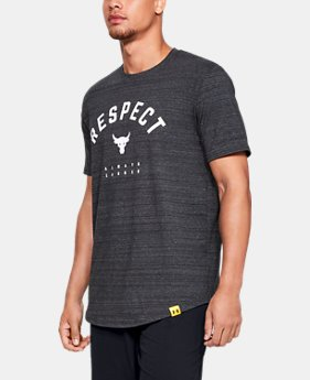 New Arrival Men's UA x Project Rock Respect T-Shirt  2  Colors Available $35
