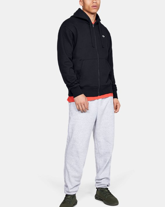 Haut UA Performance Originators Fleece Full Zip pour homme, Black, pdpMainDesktop image number 1